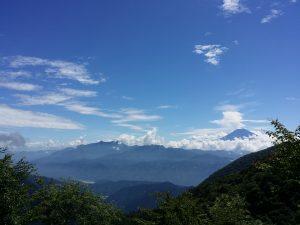 安倍峠からの富士山